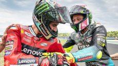 MotoGP, Pecco Bagnaia e Valentino Rossi